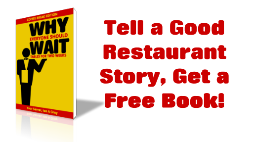 Tell a good restaurant story, get a free book!